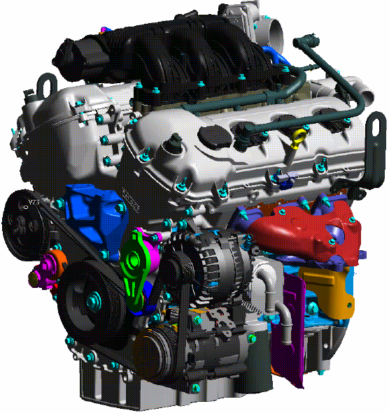 Ford Mustang V6 3 7L engine